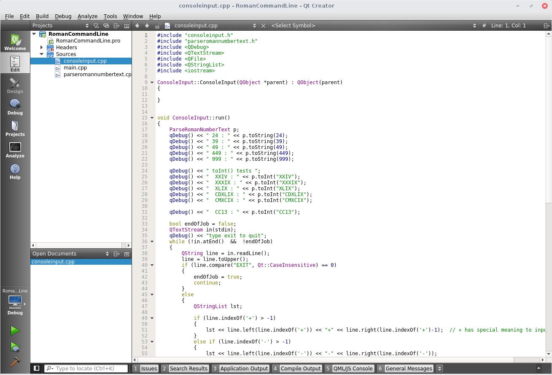 QtCreator IDE image