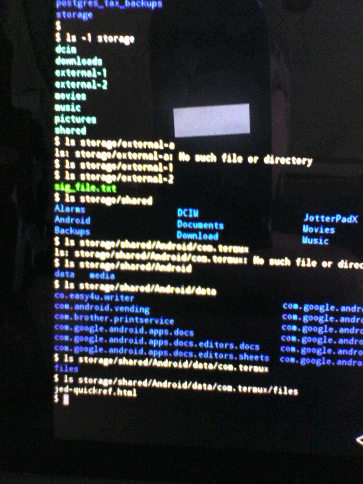 termux ls after copies image