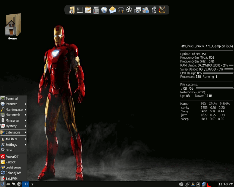 4MLinux screenshot