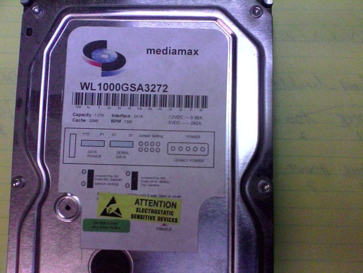 Bad 1TB drive image