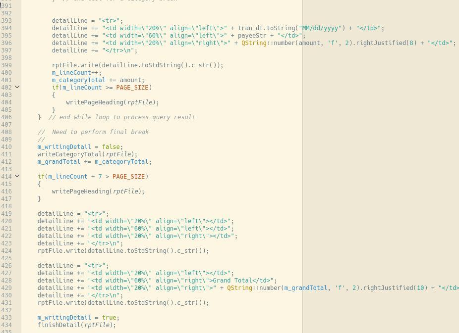 html detail