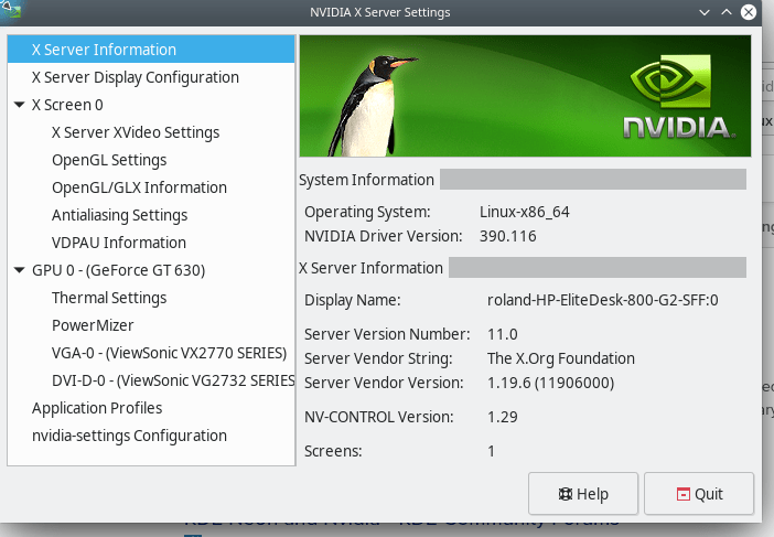 nvidia driver in use