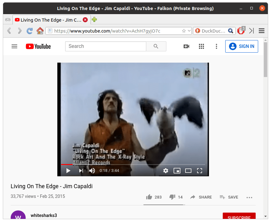 Neither Flakon nor Epiphany browsers will play videos