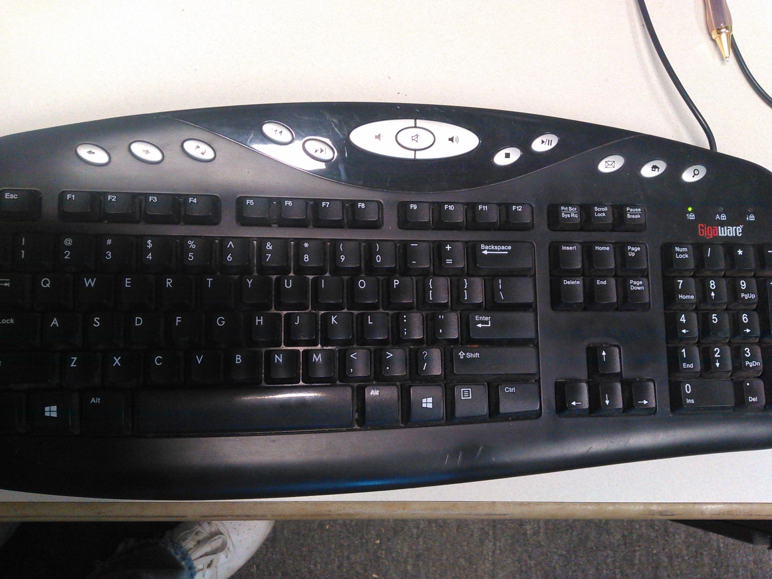 Making the GigaWare 2600460 Keyboard Work With Ubuntu 20.04 LTS